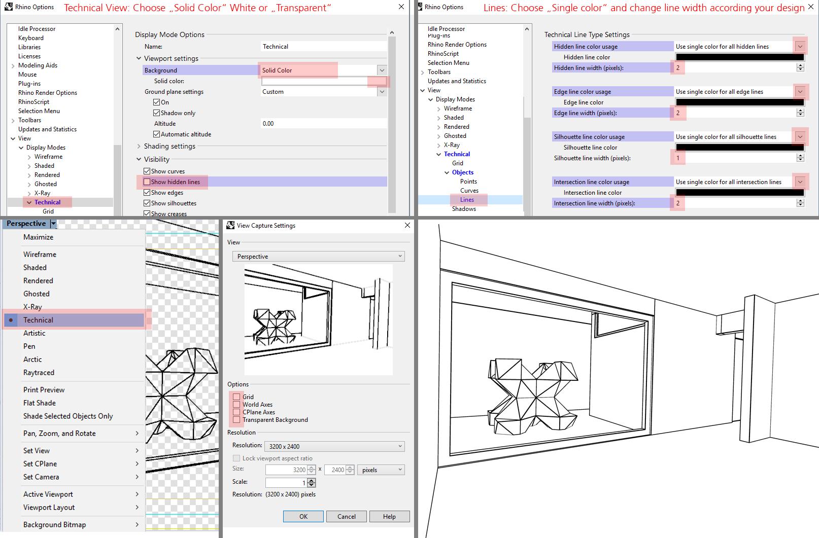 Designstrategies - How to setup your rendering in Rhino 6