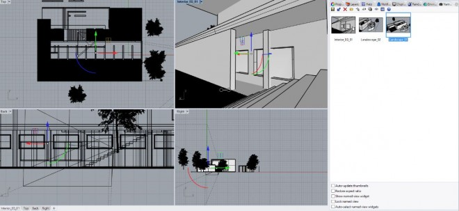 Designstrategies - Set camera views and clipping plane for